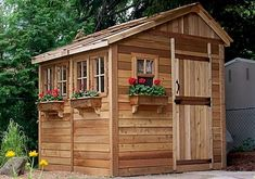 Outdoor Living Today - 8 x 8 Sunshed Garden Shed with Dutch Door #Brand_Outdoor-Living-Today #Category_Sheds #Material_Western-Red-Cedar