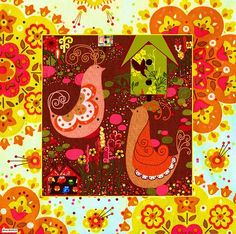 Vintage Fabric Collage.....delightful for decorating....