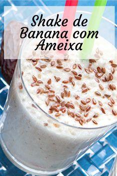 Shake de Banana com Ameixa .Receita fácil e prática, além de ser nutritiva. Para você que quer resultados rápidos em emagrecer, estas receitas de Shakes Emagrecedores vão ajudar muito você a substituir até 2 refeições por dia. Espero que goste das receitas de Shakes Emagrecedores e foque no seu objetivo, você consegue. Shake Diet, Health And Fitness Tips, Fitness Diet, Detox Shakes, Smoothies, Healthy Life, Healthy Eating, Bebidas Detox, Substitute For Egg