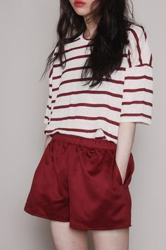 """rayon banding shorts (RED) 25,000원 """