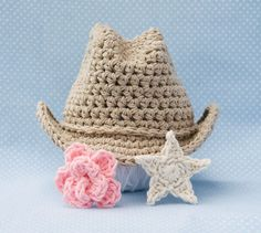 Crochet cowboy hat.