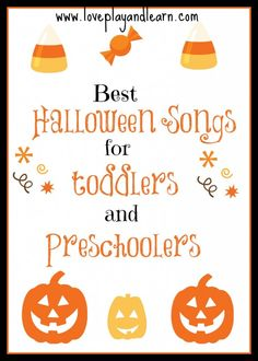 Here is a list of our favorite children Halloween songs with videos for toddlers and preschoolers.