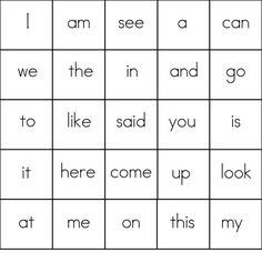 Site Words Bingo! ...adding this one to the mix today...fun learning idea!