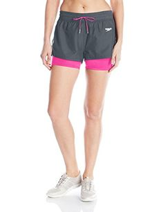 410aeea2f4d9 Special Offers - Speedo Womens Hydro Volley Workout Shorts With Built-In  Compression Jammer Lava