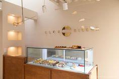 [488] 공방인테리어 / 10평 마카롱 디저트 가게 : 네이버 블로그 Car Logo Design, Cake Shop, Cafe Interior, Vinyl Wall Art, Coffee Shop, Ceiling Lights, Display, Kitchen, Shopping