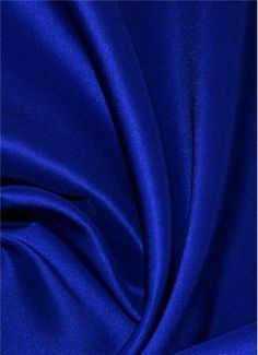 """Bridal Satin Fabric Royal Blue Nylon 60/"""" Wide By The Yard Silky Soft and Durable"""