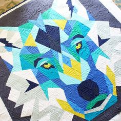 17 Wolf Abstract Quilt Ideas Abstract Quilt Wolf Abstract