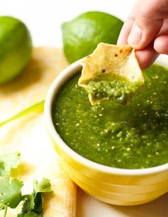 Tomatillo Salsa- Garnish with Lemon