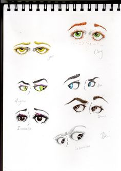 TMI characters - an interesting way to picture them, eyes are very expressive. i think Isabel should be looking towards simon though...