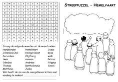 Streeppuzzel - Hemelvaart [kerkboekje.nl] Kids Church, Sunday School, Children Church