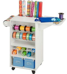 Keep your essential gift wrapping supplies and accessories neatly stored and organized on the Gift Wrapping Station.