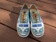 Custom Painted Volkswagen Bus Vans by LindseyRosesDesign on Etsy, $99.00