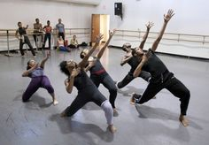 Members of the Dallas Black Dance Theater rehearse in the piece about Nina Simone for choreographer Dianne McIntyre.