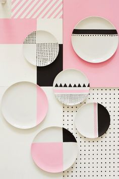 Charlotte Love is a London-based interior stylist and set designer who recently made a color pop series with still-life photographer Joanna Henderson. Love the color palette and geometry play.