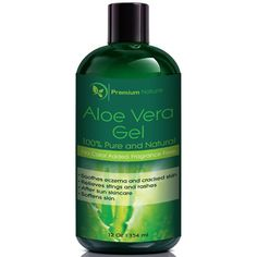Aloe Vera Gel for Face Body and Hair, 12 oz, Pure and Natural, Soothes Eczema, After Sun Skin Care, By Premium Nature >>> Learn more by visiting the image link. (Note:Amazon affiliate link)