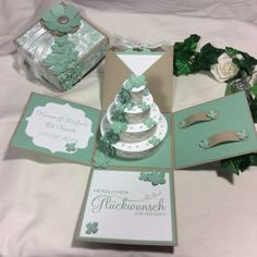 XXL-Magic-Box-Explosionsbox-Geldgeschenk-zur-Hochzeit-Mint-Stampin-Up-Handmade