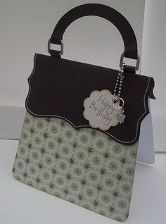 Purse - no instructions but looks easy to duplicate. Use SU Top Note or Nestability for top part??