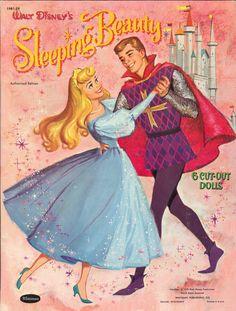 Walt Disney's Sleeping Beauty Paper Dolls by CollectYourChildhood, $30.00