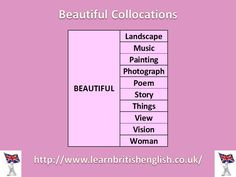 Beautiful Collocations