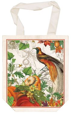 """Our charming, natural cotton French Market Bag is designed for light shopping.It has a gusseted bottom and rolls up easily, so it can be popped into a purse, briefcase,or backpack until needed. And the straps can be slipped over a shoulder or used for hand carrying. So useful. So chic! Machine washable. 13"""" x 15"""" (33 cm x 38.1 cm)."""