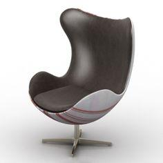 Modelo 3D Sillón | Categoria: Sillas, Mesas, sofás