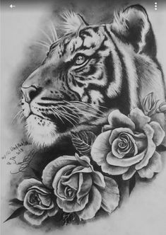 Tiger Roses Tattoo My Style Pinterest Tattoos Rose Tattoos