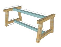DIY Projects Truss Beam Table Woodworking Plans by Ana White Easy Woodworking Projects, Woodworking Projects Diy, Diy Wood Projects, Woodworking Plans, Woodworking Supplies, Youtube Woodworking, Woodworking Classes, Popular Woodworking, Woodworking Store
