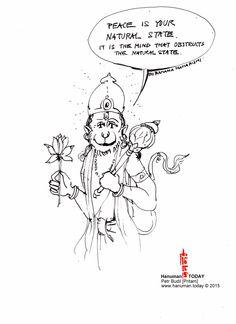 Saturday, May 16, 2015 Daily drawings of Hanuman / Hanuman TODAY / Connecting with Hanuman through art / Artwork by Petr Budil [Pritam] www.hanuman.today