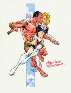 Namor and Invisible Woman by Ron Frenz