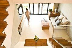 Casa de la Flora, Thailand    Neutral feel with lots of natural elements and concrete floor