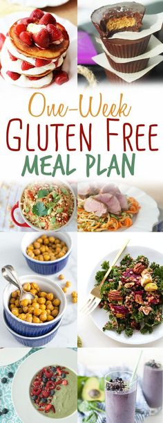 This 1 week gluten free meal plan is your one-stop shop for a healthy weeks worth of naturally gluten free meals. No need to look for crazy expensive ingredients in health food stores- we have you covered with these easy and delicious recipes. Healthy Foods To Eat, Healthy Dinner Recipes, Diet Recipes, Healthy Snacks, Delicious Recipes, Yummy Food, Diet Tips, Easy Recipes, Top Recipes