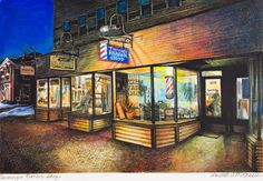 Annette Mitchell, 'Turnage Barber Shop, Plymouth, New Hampshire'