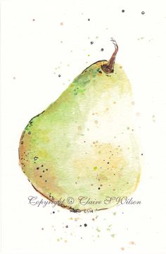 Pear Original watercolor