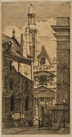 Charles Meryon - St. Etienne-du-Mont, Paris, from Eaux-fortes sur Paris