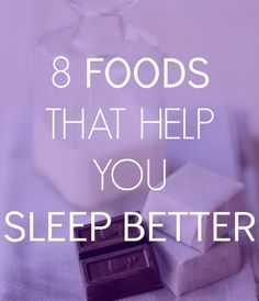 foods that help you sleep better