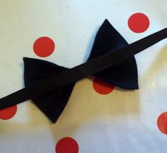 No Sew Bow Tie Tutorial