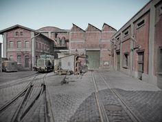 Yoryi (puntocom) - Modelismo y Maquetas - Diorama ferroviario. 1:87 (Madrid década 60/70) Acabado - Mesa de trabajo