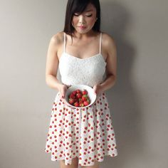 Pretty half-circle skirt, featuring Camelot Fabrics' Scented Collection that looks as sweet as it smells!