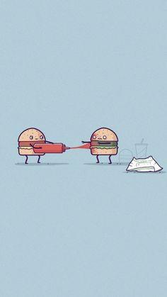Cute Cartoon Drawings Ketchup Stuff Iphone Wallpapers Cartoons Phone