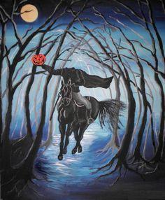 Sleepy Hollow Headless Horseman Painting