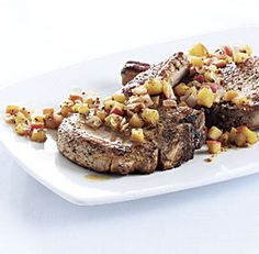 Pork Chops with Cider-Dijon Pan Sauce