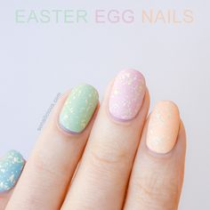 EASY EASTER EGG NAILS: http://sonailicious.com/easter-egg-nails-opi-18k-white-gold-top-coat/