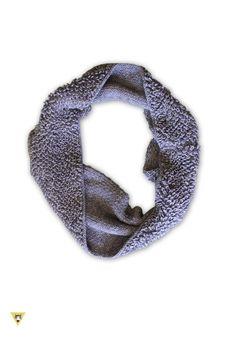 scaldacollo in lana mohair grigio