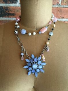 Summer's not over: vintage assemblage jewelry set by RevivalBling