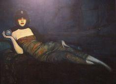 Luisa Casati by Federico Armando Beltran-Masses, 1920