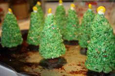 Rice Krispies trees I made!