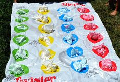 Summertime Twister with Colored Shaving Cream