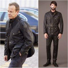 Kiefer Sutherland / Jack Bauer in Belstaff - Filming Of '24' In London. http://www.whats-he-wearing.com/2014/03/kiefer-sutherland-in-belstaff-filming.html