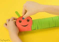 "This adorable 3D paper caterpillar craft is a cute and wiggly project to make with your kids! It can be a ""freehand"" project or you can use our printable caterpillar craft template and cut along the lines. *this post contains affiliate links* Spring is the perfect time of the year to do bug crafts, and …"