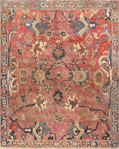 Antique 17th Century Persian Kerman Carpet Size: 8 ft x 9 ft 3 in (2.44 m x 2.82 m)